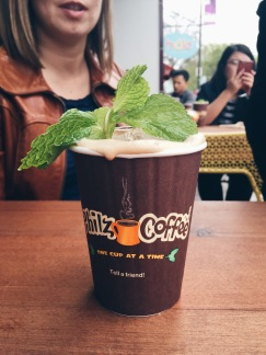mint mojito iced coffee. yum.