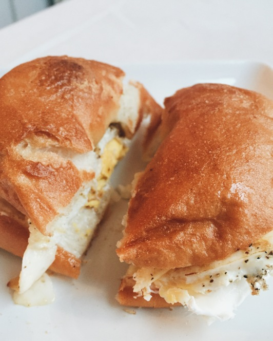 fried egg + gobs of cream cheese